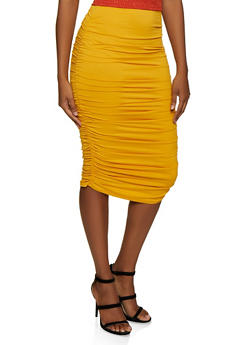 Ruched Pencil Skirt - 3413068512633