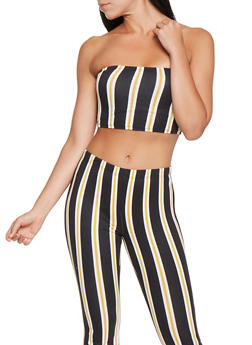 Striped Soft Knit Tube Top - 3413068515178