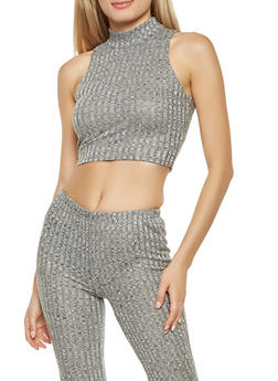 Rib Knit Crop Top - 3413068515190