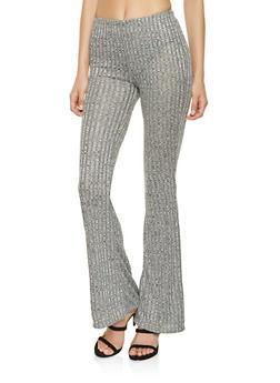 Rib Knit Flared Pants - 3413068515191