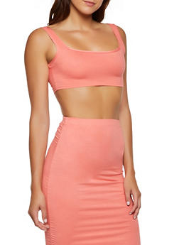 Soft Knit Cropped Tank Top - 3413068515231