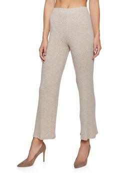 Flared Rib Knit Pants - 3413069390003