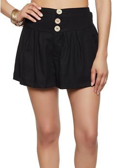 3 Button Waist Shorts - 3413069390060