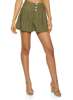 3 Button Waist Shorts - 3413069390060