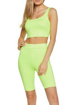 Neon Crop Top - 3413069390096