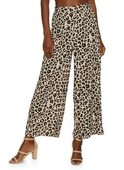 Leopard Palazzo Pants - 3413069390139