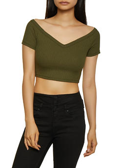 Ribbed Off the Shoulder Top - 3413069390160