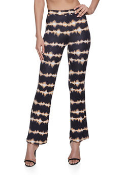 Flared Tie Dye Soft Knit Pants - 3413069390949