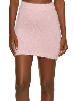 Eyelash Knit Pencil Skirt - 3413069391611