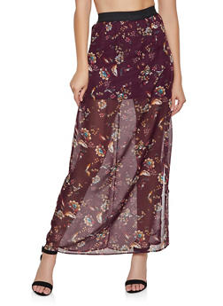 Floral Maxi Skirt - 3413069391810