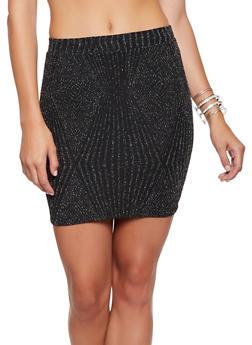 Lurex Mini Pencil Skirt - 3413069394031