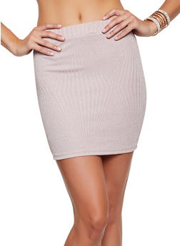 Lurex Mini Pencil Skirt - 3413069394031