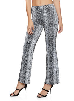 Snake Print Flared Pants - 3413069396306