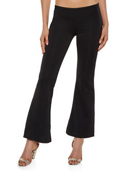 Flared Pull on Dress Pants - 3413072240965