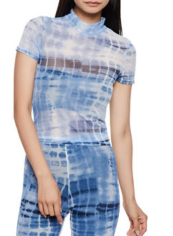 Tie Dye Sheer Top - 3413072241109