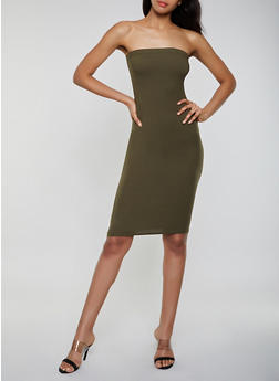 Soft Knit Midi Tube Dress - 3413072242771