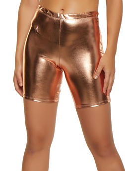 Foil Coated Bike Shorts - 3413072244677