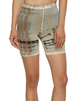 Tie Dye Sheer Bike Shorts - 3413072246347