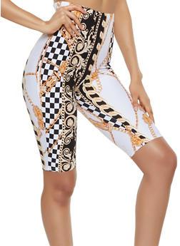 Soft Knit Status Print Bike Shorts - 3413072247155