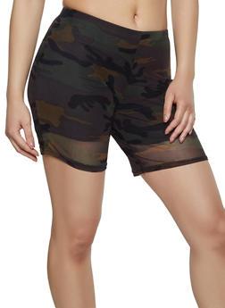Camo Mesh Bike Shorts - 3413072247470