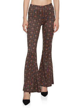 Geometric Flared Pants - 3413072248933