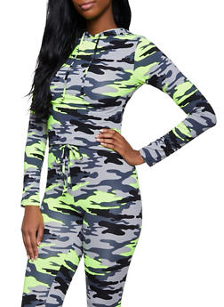 Neon Camo Hooded Top - 3413072290014
