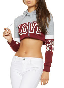 Love Graphic Cropped Sweatshirt - 3413072290024