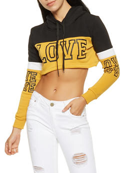Love Graphic Cropped Sweatshirt - 3413072290024