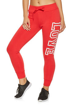 Love Graphic Fleece Lined Joggers - 3413072290025