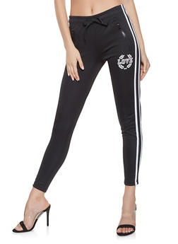 Varsity Stripe Graphic Track Pants - 3413072290119