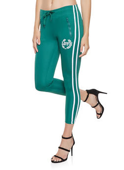 Varsity Stripe Graphic Track Pants - 3413072290119