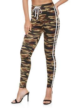 Varsity Stripe Soft Knit Leggings - 3413072290130