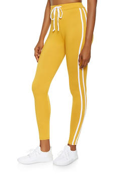 Varsity Stripe Soft Knit Leggings - 3413072290130