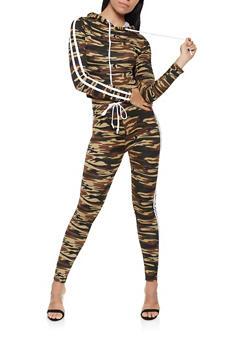 Varsity Stripe Soft Knit Hooded Top - 3413072290131