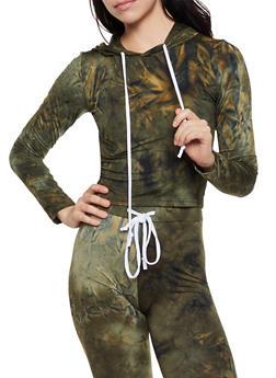 Tie Dye Hooded Top - 3413072290134
