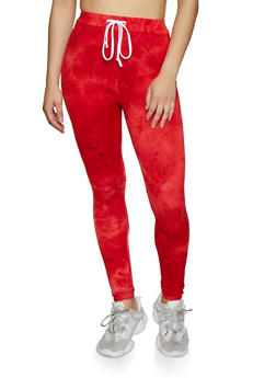 Tie Dye Soft Knit Leggings - 3413072290135