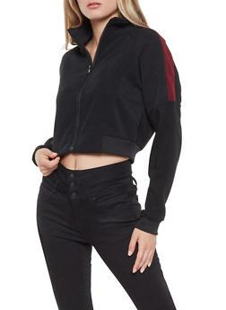 Cropped Color Block Sweatshirt - 3413072290950