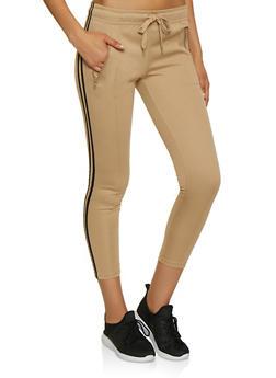 Varsity Stripe Skinny Track Pants - 3413072291190