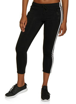 Varsity Stripe Pintuck Sweatpants - 3413072291199