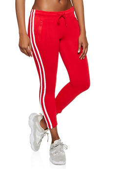 Varsity Stripe Pintuck Sweatpants - 3413072291199
