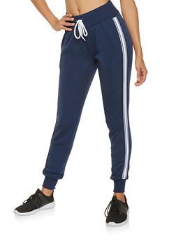 Side Stripe Tape Sweatpants - 3413072291251