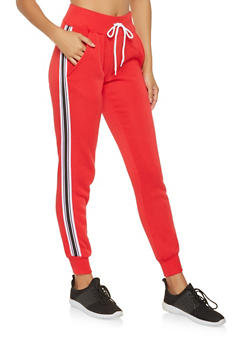 Side Stripe Tape Sweatpants - 3413072291251
