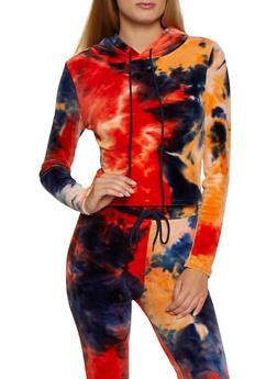 Tie Dye Velvet Sweatshirt - 3413072291313