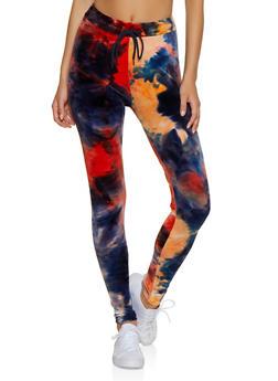 Tie Dye Velvet Leggings - 3413072291414
