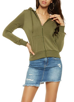 Sherpa Lined Hood Zip Up Sweatshirt - 3413072291760