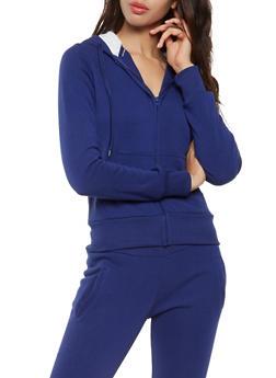 Sherpa Lined Hooded Sweatshirt - 3413072291762