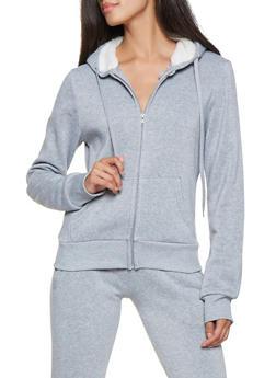 Zip Up Hooded Sweatshirt - 3413072291763