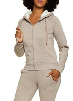 Fleece Moto Sweatshirt - 3413072291866