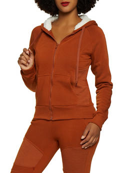 Fleece Moto Sweatshirt - 3413072291866