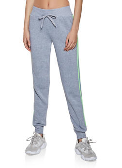 Varsity Stripe Fleece Lined Sweatpants - 3413072291967